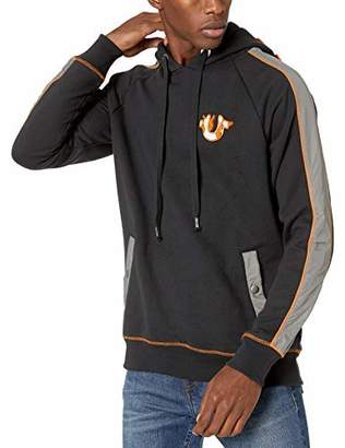 True Religion Men's Color Blocked Flame Hooded Pullover