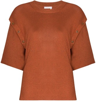 See by Chloe button detail knitted top