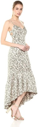 Jill Stuart Jill Women's Floral Jacquard midi Dress with Side Cutouts