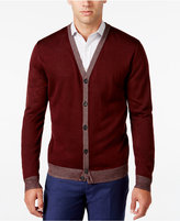 Ryan Seacrest Distinction Men's Lightweight Striped-Trim Cardigan, Only at Macy's
