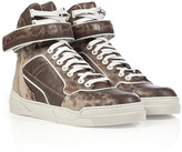 Givenchy Snake Embossed Leather Rock Sneakers in Optic White-Multi