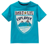 Hot Turquoise 'Dad's Lil' Explorer' Jersey Tee - Infant & Toddler