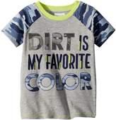 Mud Pie Camo Dirt Short Sleeve Shirt Boy's Clothing