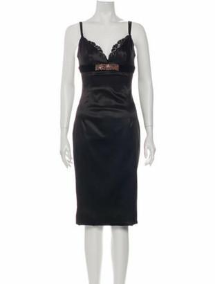 Dolce & Gabbana V-Neck Mini Dress Black