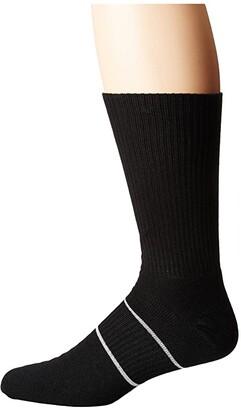 Wrightsock Running II Crew (Black) Crew Cut Socks Shoes