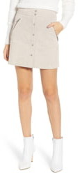 Blank NYC BLANKNYC Snap Front Suede Miniskirt