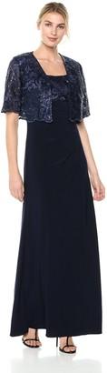 Alex Evenings Women's Embroidered Bolero Jacket Dress