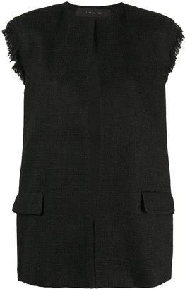 FEDERICA TOSI Textured Tailored Waistcoat