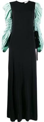 Tory Burch Gathered Sleeve Maxi Dress