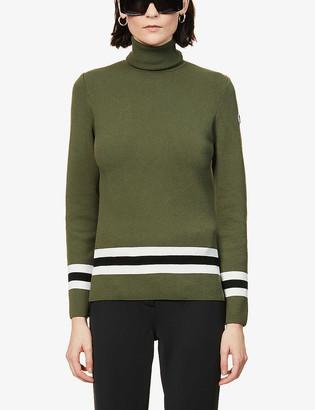 Fusalp Judith striped-trim knitted jumper