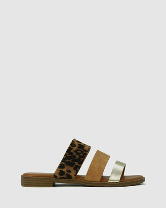 Los Cabos - Women's Brown Strappy sandals - Kara - Size One Size, 40 at The Iconic