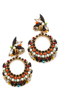 Erickson Beamon Imitation Pearl Safari Hoop Earrings