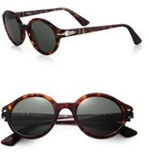Persol Retro 51MM Round Sunglasses