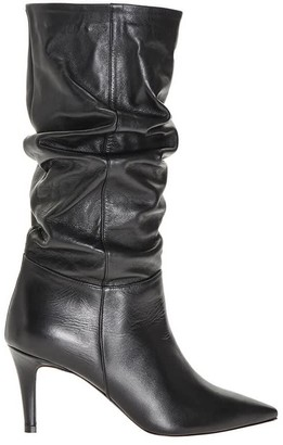 Pinko Black Nappa Leather Mezcal Boot