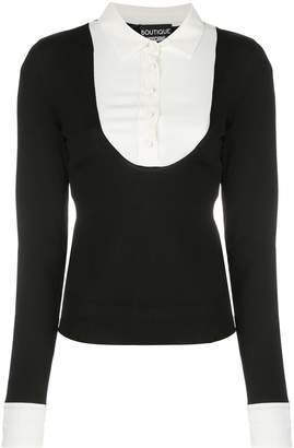 Moschino contrasting layer jumper