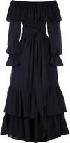 Off-the-shoulder tiered dress