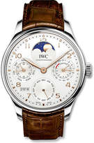 IWC IW503302 Portugieser white gold and alligator leather watch