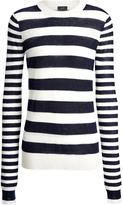 Joseph Cashair Stripe Sweater in Ecrunavy
