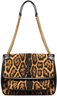 Saint Laurent medium Niki leopard-print shoulder bag