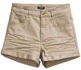 Miaokalin Women's Fold Slim Candy Color Plus Size Cargo ShortsL