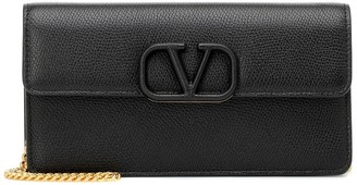 Valentino VSLING Small leather clutch