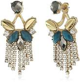 lonna & lilly Gold-Tone and Blue Multi-Drama Floater Drop Earrings