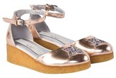 Stella McCartney Gold Metallic Platform Sandals