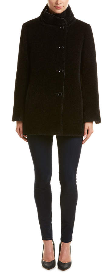 Cinzia Rocca Icons Reversible Alpaca & Wool-Blend Coat
