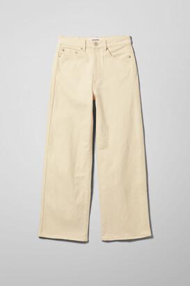 Weekday Veer High Wide Jeans - Beige