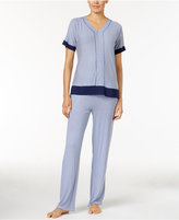 DKNY Contrast-Trimmed Printed Pajama Top, A Macy's Exclusive Style