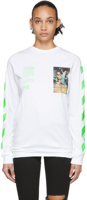 Off-White Off White White Pascal Painting Long Sleeve T-Shirt