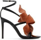 Giuseppe Zanotti flower applique leather sandals