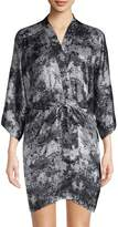 Samantha Chang Women's Printed Silk Kimono