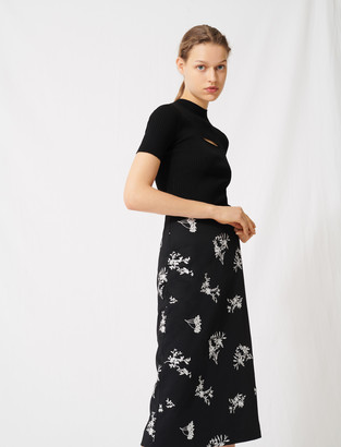 Maje Midiskirt In Embroidered Crepe