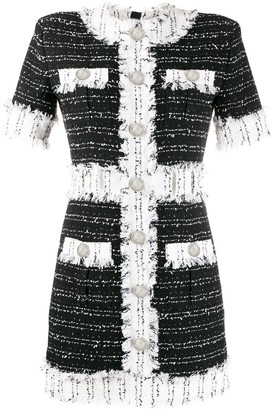 Balmain tweed short-sleeved dress