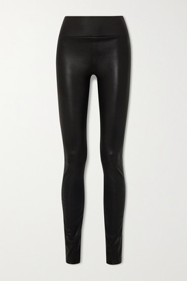 Sprwmn Zip-detailed Leather Leggings - Black