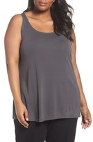 Eileen Fisher Plus Size Women's Silk Jersey Tank
