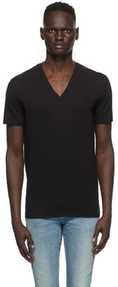 DSQUARED2 Two-Pack Black V-Neck T-Shirts