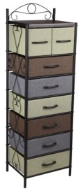 Household Essentials 8-Drawer Victorian Tower