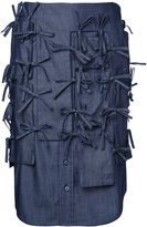 Facetasm strings denim skirt - women - Cotton - 1