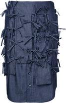 Facetasm strings denim skirt