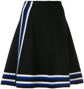 Lanvin striped knitted A-line skirt