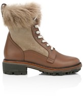 Rag & Bone Shiloh Lace-Up Lamb Fur-Lined Leather Combat Boots