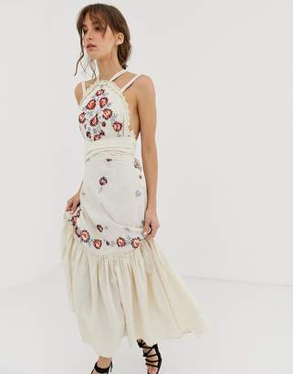 Free People Chrysanthemum Kiss maxi dress-Cream