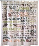 Pier 1 Imports Cabin Words Shower Curtain