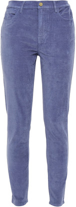 Frame Le High Skinny Stretch-velvet Skinny Pants