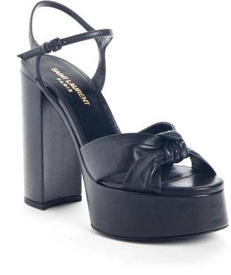 Saint Laurent Bianca Ankle Strap Platform Sandal