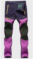 Shuoquan Women's Windproof Fleece Lined Softshell Mountain Ski Pants XL