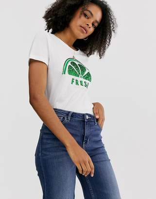 Only lime short sleeve t-shirt-White