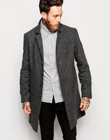 Nudie Jeans Nudie Overcoat Leon Loose Recyled Wool - Grey